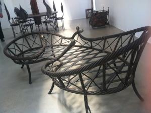 konst för trädgården:soffa