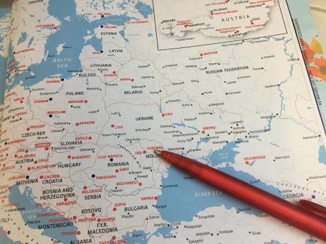 Karta över östEuropa